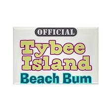 Tybee Island Beach Bum - Rectangle Magnet
