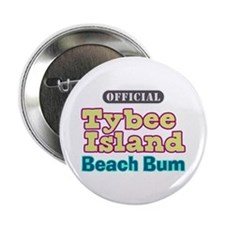 "Tybee Island Beach Bum - 2.25"" Button"