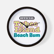 Tybee Island Beach Bum - Wall Clock