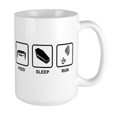 Feed, Sleep, Run - Vampire Runner Mug