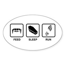 Feed, Sleep, Run - Vampire Runner Decal