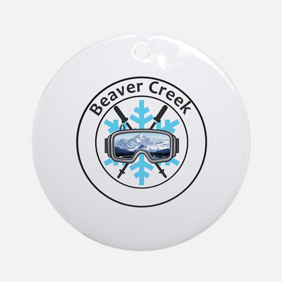 Cute Beaver creek Round Ornament