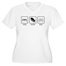 Feed, Sleep, Ride - Vampire Cyclist T-Shirt