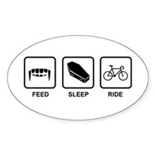 Feed, Sleep, Ride - Vampire Cyclist Decal