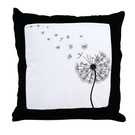 Blowing Dandelion Throw Pillow