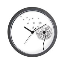 Blowing Dandelion Wall Clock
