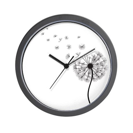 Blowing Dandelion Wall Clock By Persnickatees