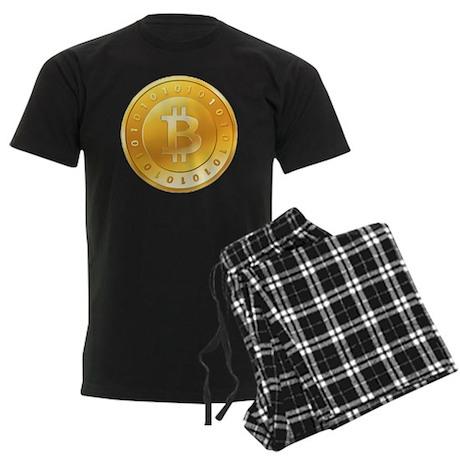 Bitcoins-1 Men's Dark Pajamas