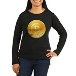 Bitcoins-1 Women's Long Sleeve Dark T-Shirt
