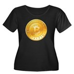 Bitcoins-1 Women's Plus Size Scoop Neck Dark T-Shi