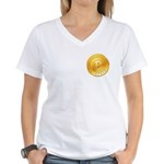 Bitcoins-1 Women's V-Neck T-Shirt
