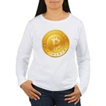 Bitcoins-1 Women's Long Sleeve T-Shirt