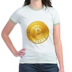Bitcoins-1 Jr. Ringer T-Shirt
