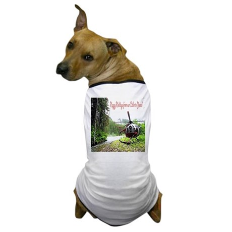 Holiday Helicopter Cabin Dog T-Shirt