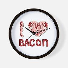 I Love Bacon Wall Clock