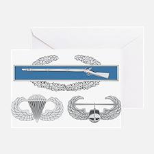 CIB Airborne Air Assault Greeting Card