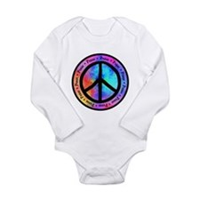 Distorted Peace Sign Long Sleeve Infant Bodysuit