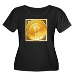 Bitcoins-3 Women's Plus Size Scoop Neck Dark T-Shi