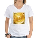Bitcoins-3 Women's V-Neck T-Shirt
