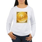 Bitcoins-3 Women's Long Sleeve T-Shirt