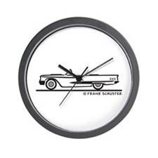 1960 Ford Thunderbird Convertible Wall Clock