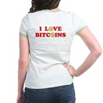 Bitcoins-4 Jr. Ringer T-Shirt