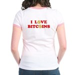 Bitcoins-4 Jr. Ringer T-Shirt