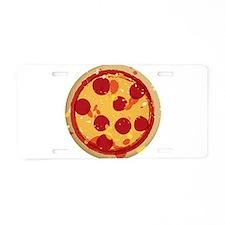 Cute Pizza Aluminum License Plate