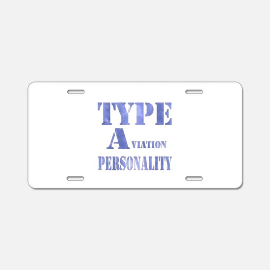 Type A(viation) Personality Aluminum License Plate