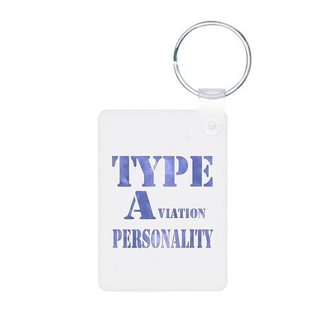 Type A(viation) Personality Aluminum Photo Keychai