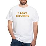 Bitcoins-6 White T-Shirt