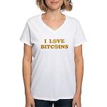 Bitcoins-6 Women's V-Neck T-Shirt