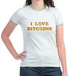 Bitcoins-6 Jr. Ringer T-Shirt