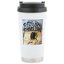 Helicopter in Desert Travel Mug