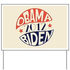 Vintage Obama Biden Yard Sign