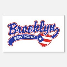 Brooklyn Puerto Rican Sticker (Rectangle)