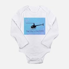 Funny Robinson helicopter Long Sleeve Infant Bodysuit