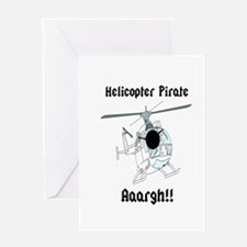 Helicopter Pirate Pilot Greeting Card