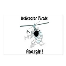 Helicopter Pirate Pilot Postcards (Package of 8)