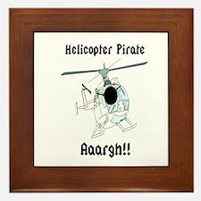 Helicopter Pirate Pilot Framed Tile