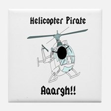 Helicopter Pirate Pilot Tile Coaster