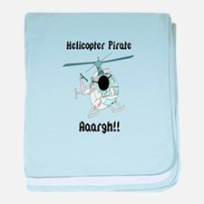 Helicopter Pirate Pilot baby blanket