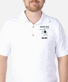 Helicopter Pirate Pilot Golf Shirt