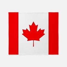 Canadian Flag Throw Blanket