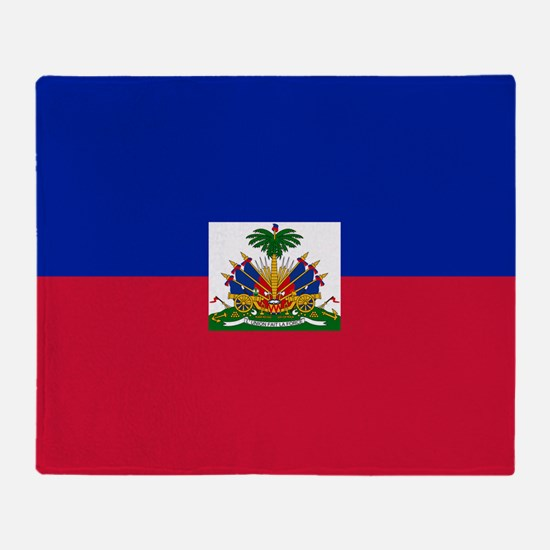 Flag of Haiti Throw Blanket