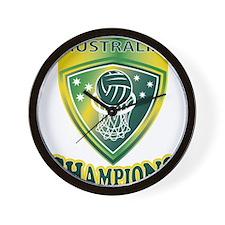 netball champions australia Wall Clock