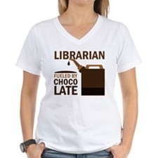 Librarian Fueled By Chocolate Shirt