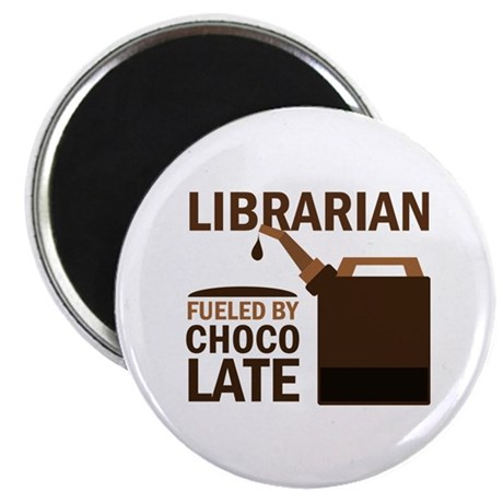 "Librarian Fueled By Chocolate 2.25"" Magnet (10 pac"