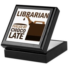 Librarian Fueled By Chocolate Keepsake Box