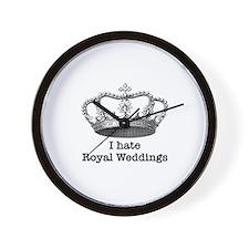 i hate royal weddings (v1, bl Wall Clock